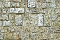 Decorativ mosaisk stenvägg Arkivbild