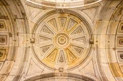 Decorativ Sandsotne ceiling of an entrance portal Stock Image
