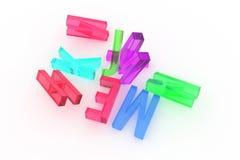 Decorativa, la tipografia del cgi delle illustrazioni, carattere alfabetico rappresenta la lettera di ABC, per il fondo di strutt illustrazione vettoriale