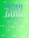 Decorative 2012 calender. 2012 calendar with world map background Stock Photography