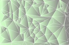 Decorative abstract background, white contour triangles, green s stock illustration