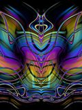 Decorative Abstract Butterfly Stock Images