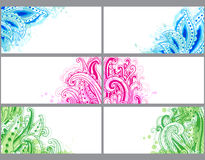 Decorative abstract cards Stock Images