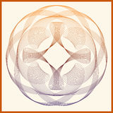 Decorative abstract circular shape with faded colors on orange b Royalty Free Stock Photo