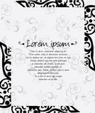 Decorative abstract Floral frame illustration Stock Photos