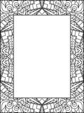 Decorative Abstract Frame, Black And White Ornament With Empty P. Lace For Your Text. Vector Illustration Stock Photography