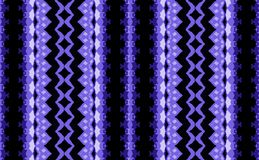 VIOLET BLUE, WHITE AND BLACK REPEAT BORDER PATTERN. Decorative abstract image of violet, black and white border patterns with detailed designs Royalty Free Stock Photo