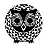 Decorative abstract owl Royalty Free Stock Photography