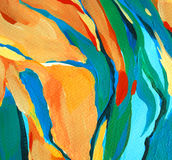 Decorative abstract painting, illustration Stock Images