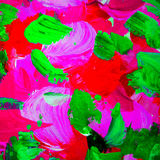 Decorative abstract painting for interior, background, illustrat Stock Photos