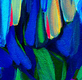 Decorative abstract painting on a rough canvas by oil, illustrat Royalty Free Stock Photos