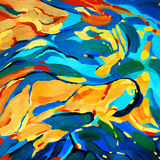 Decorative abstract picture for interior, illustration Stock Photo