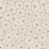 Decorative abstract seamless circle pattern. Endless texture with linear round elements Royalty Free Stock Images