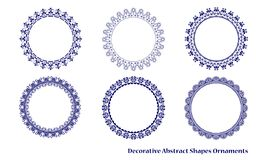 Decorative abstract shapes ornament Stock Image