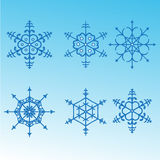 Decorative abstract snowflake. Royalty Free Stock Photos