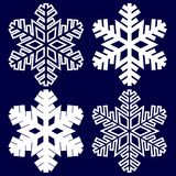 Decorative abstract snowflake. Royalty Free Stock Photos