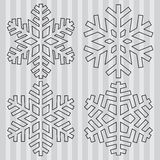 Decorative abstract snowflake. Stock Photos