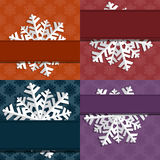 Decorative abstract snowflake Stock Image