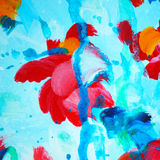 Decorative abstract watercolor painting for interior, illustrati Royalty Free Stock Image
