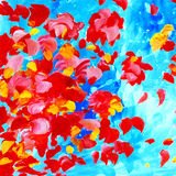 Decorative abstract watercolor painting for interior, illustrati Stock Photography