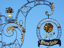 Decorative advertising in Stein am Rhein royalty free stock image