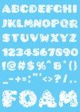 Decorative alphabet from bubbles. Unique set. Vector illustration Stock Image