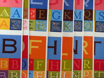 Decorative Alphabet Letters. Colorful and decorative letters of the alphabet Royalty Free Stock Photo