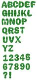 Decorative alphabet uppercase set in green design Stock Images