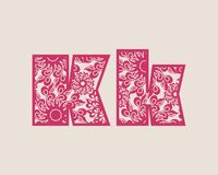 Decorative alphabet vector font. Stock Photography