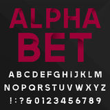Decorative alphabet vector font. Royalty Free Stock Photo