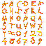 Decorative alphabet vector  set Stock Images