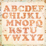 Vintage alphabet background Royalty Free Stock Image