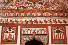 Decorative Ancient Indian Portal Royalty Free Stock Photography