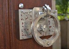 Decorative antique door handle Stock Image