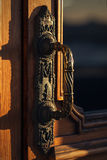 Decorative Antique Door Handle. Old Aged Design Royalty Free Stock Photos