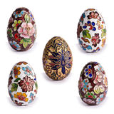 Decorative antique Easter eggs Stock Images