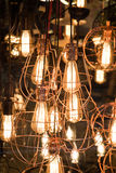 Decorative antique edison style filament light bulbs Royalty Free Stock Photo