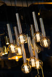 Decorative antique edison style filament light bulbs Royalty Free Stock Images