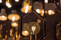 Decorative antique edison style filament light bulbs Royalty Free Stock Photography