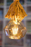 Decorative antique edison style filament light bulbs Stock Photography