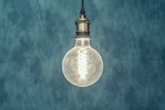 Vintage light bulb background royalty free stock photo