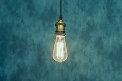 Vintage light bulb background royalty free stock image