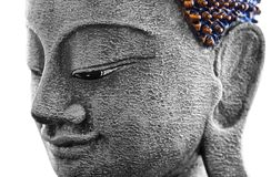 Decorative antique look buddha face Stock Images
