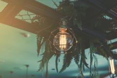 Decorative antique luxury light bulbs. Retro color style Stock Photo
