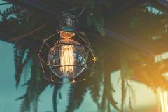 Decorative antique luxury light bulbs. Retro color style Stock Photos