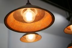 Decorative antique and vintage hanging ceiling pendant lamp light. Royalty Free Stock Photos