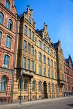 A decorative apartment building in Lund Stock Photography
