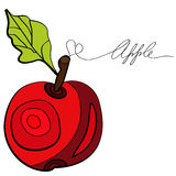 Decorative apple. Original illustration with decorative apple Stock Photography