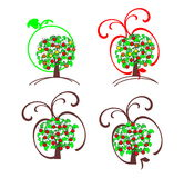 Decorative apple tree Royalty Free Stock Images