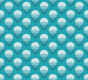 Decorative aqua color droplet pattern on the turquoise background stock photography